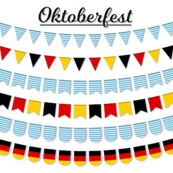 Set garland decoratie voor meest oktoberfest festival