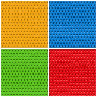 Set gekleurde naadloze achtergronden, illustratie