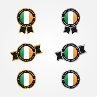 Set gemaakt in ierland label sjabloonontwerp
