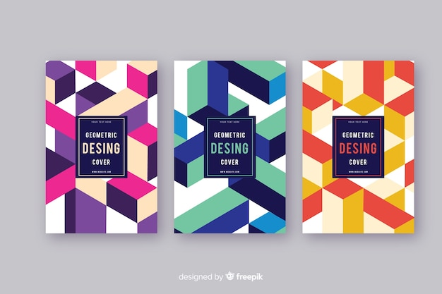 Set geometrisch ontwerp covers