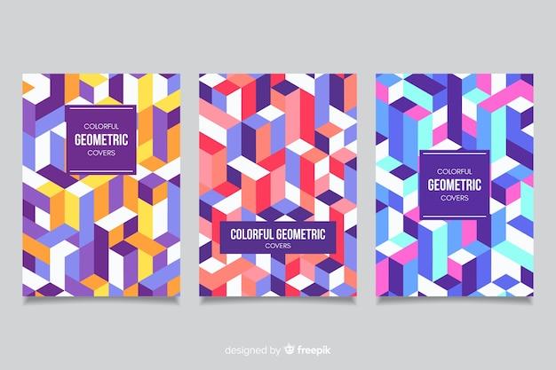 Set geometrisch ontwerp covers