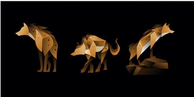 Set geometrische hyena