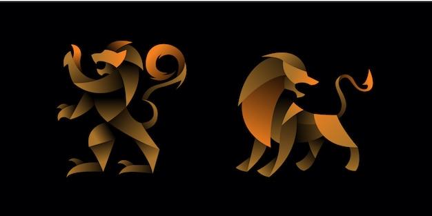 Set geometrische leeuw