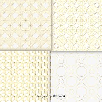Set geometrische luxe patroon collectie