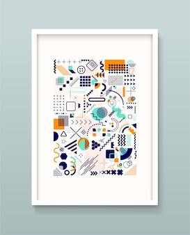 Set geometrische memphis, minimale naadloze textuur.