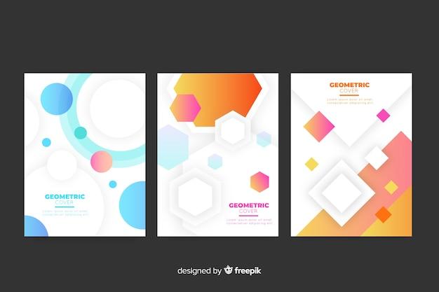 Set geometrische ontwerpomslagen