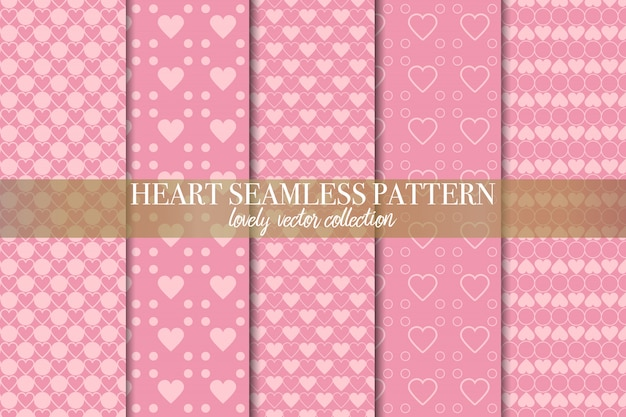 Set geometrische roze naadloze patronen