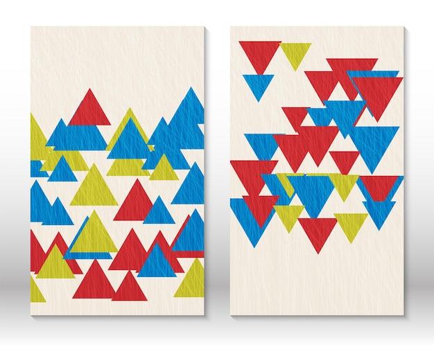 Set geometrische vormen. krabbel ontwerp moderne abstracte schilderkunst. abstracte handgetekende vormen. aquarel effect ontwerp. moderne kunstafdruk. eigentijds design met doodle-elementen.