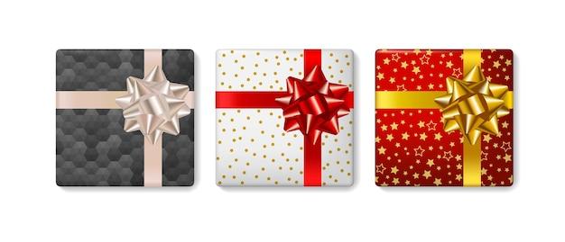 Set geschenkdozen met strik