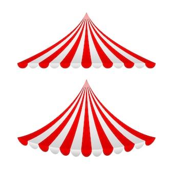 Set gestreepte luifels. illustratie