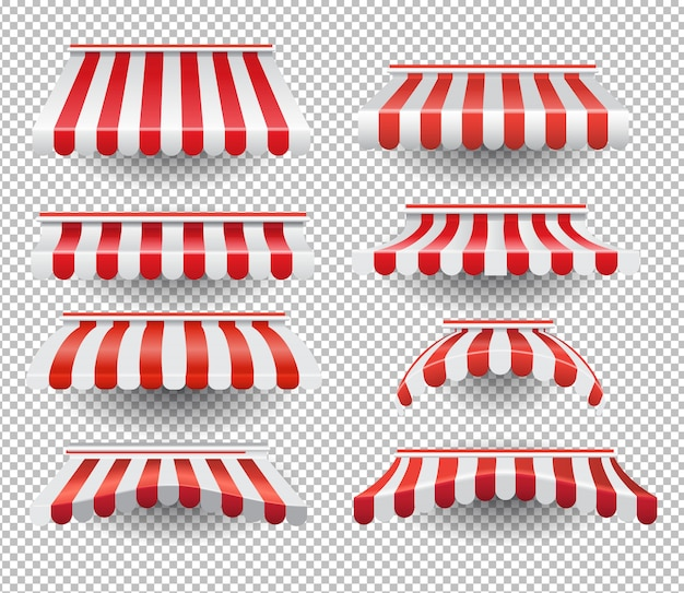 Set gestreepte tenten