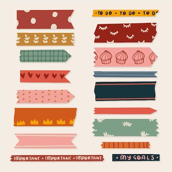 Set getekende washi tape