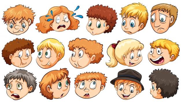 Set gezichtsuitdrukkingen