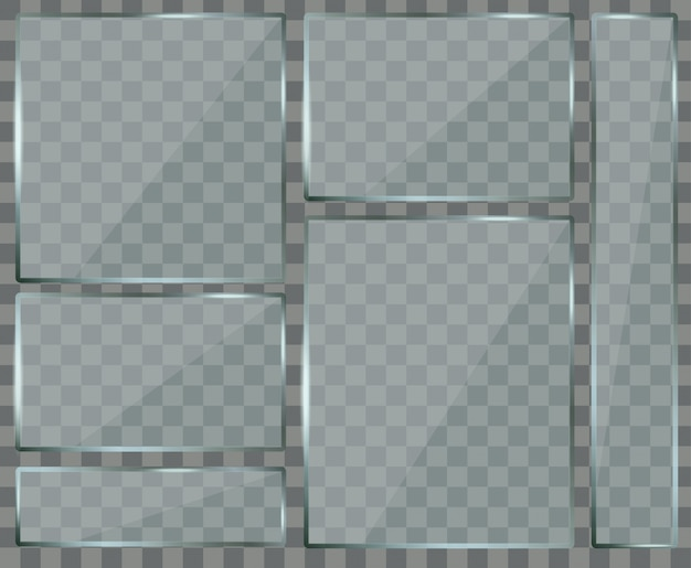 Set glazen platen