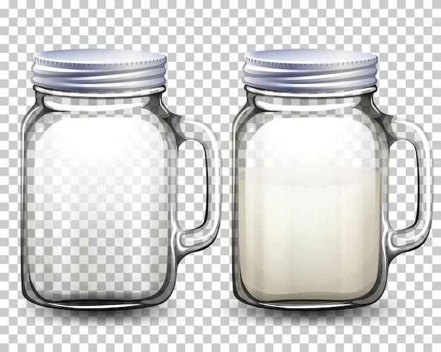 Set glazen potten