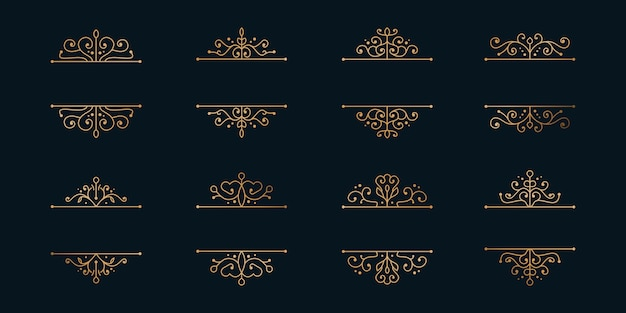 Set gouden frames, minimalistische verdelers.