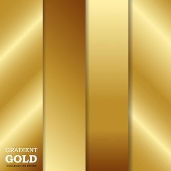 Set gradiënt gouden achtergrond