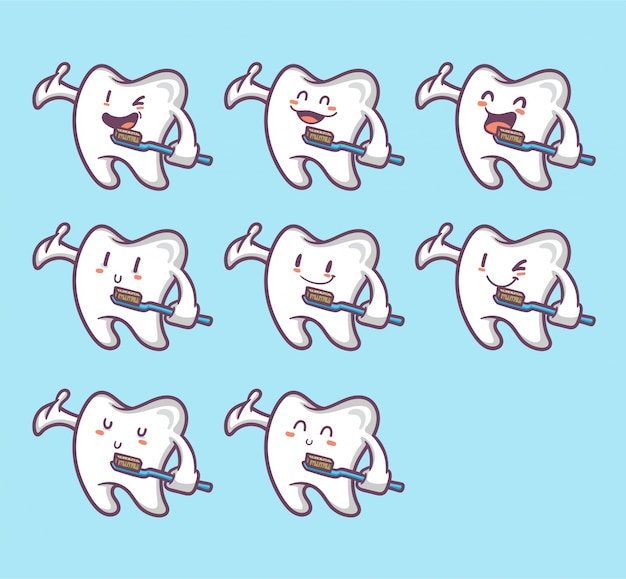 Set grappige tanden