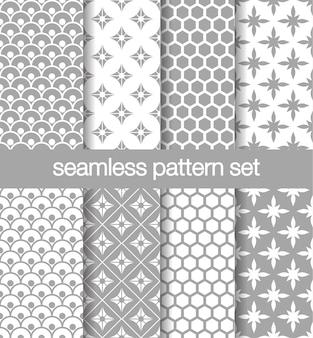 Set grijs patroon naadloze vector