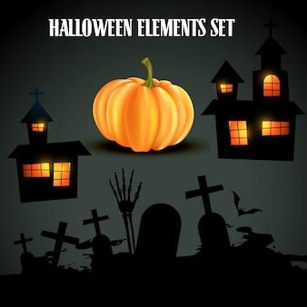 Set halloween-elementen