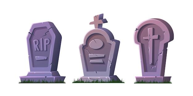 Set halloween-grafstenen.
