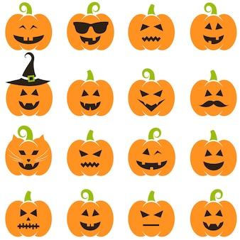 Set halloween pompoenen