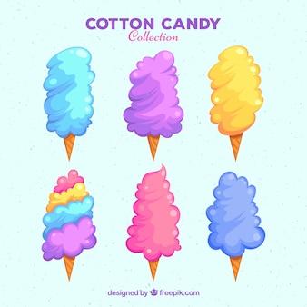 Set hand getekende suiker cottons