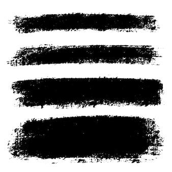 Set hand getrokken lijnen, vlekken voor achtergronden. getextureerde monochrome elementen instellen. artistieke rechthoekige achtergronden in één kleur.