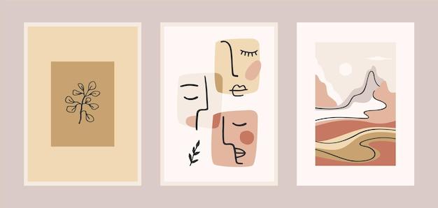 Set hedendaagse kunstafdrukken