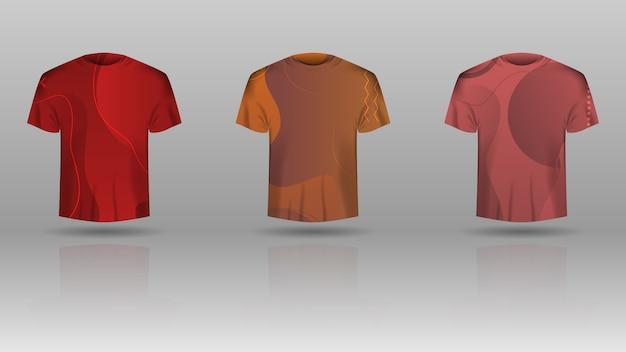 Set heren t-shirt met gekleurde sjabloon