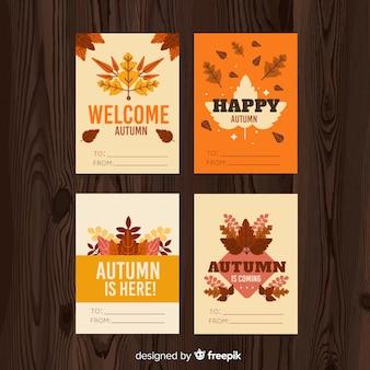 Set herfst ansichtkaarten