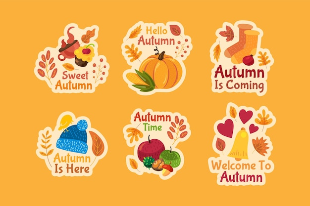 Set herfst stickers.