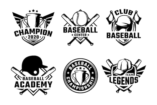 Set honkbal badges etiketten, emblemen en logo