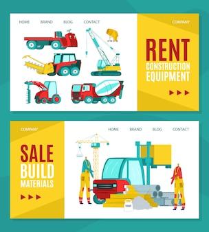 Set huur bouwmateriaal banner
