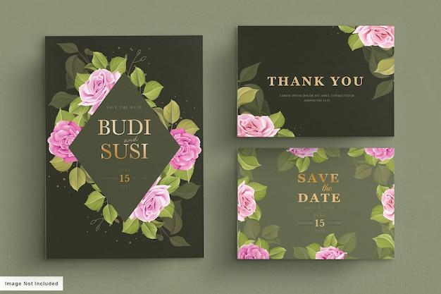 Set huwelijksuitnodigingen
