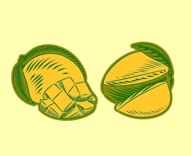 Set illustratie van mango