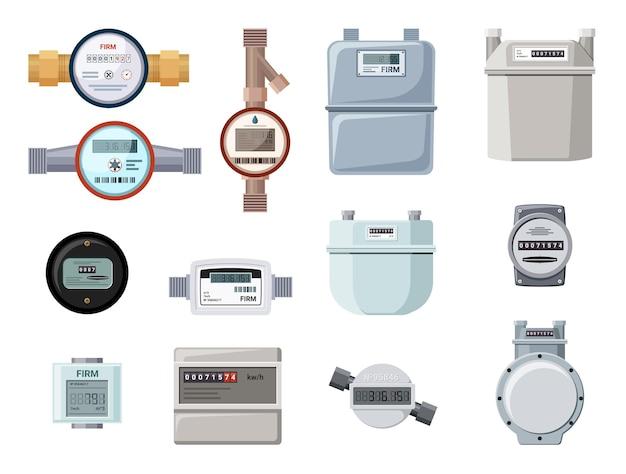 Set industriële en huishoudelijke meters