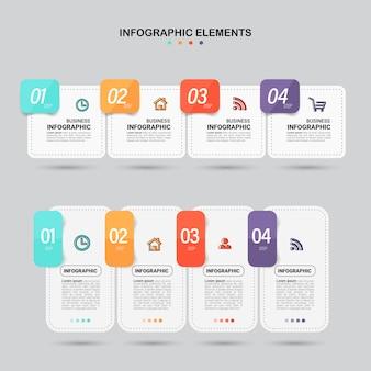 Set infographic elementen.