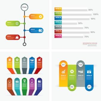 Set infographic sjablonen