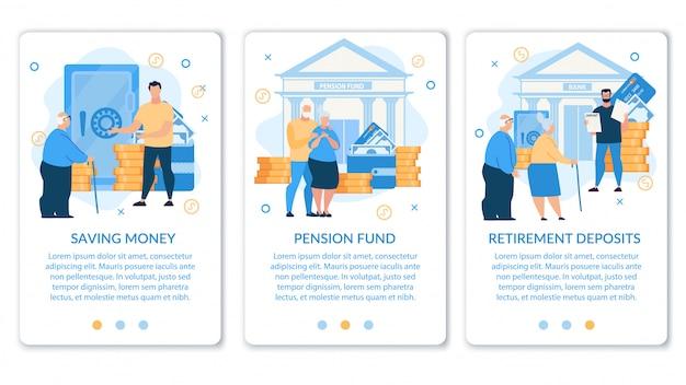 Set informatieve poster is geschreven pensioenfonds.