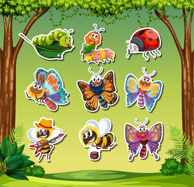 Set insectensticker