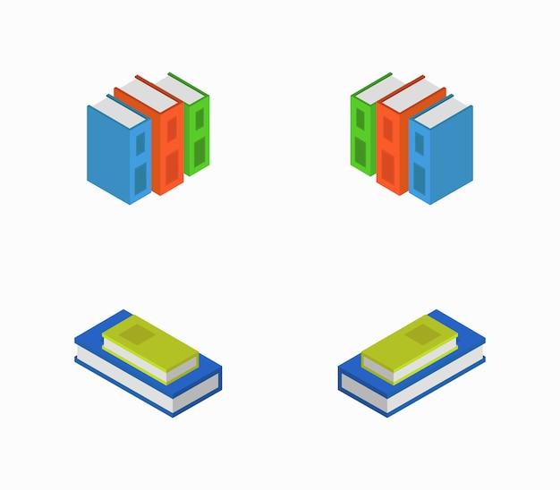 Set isometrische boeken