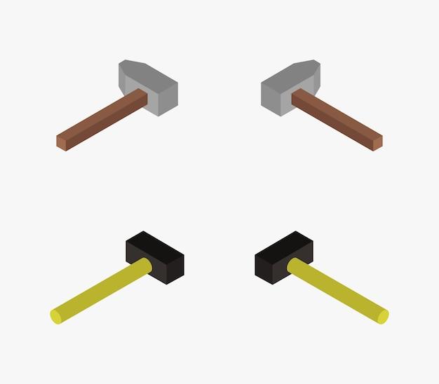 Set isometrische hamers