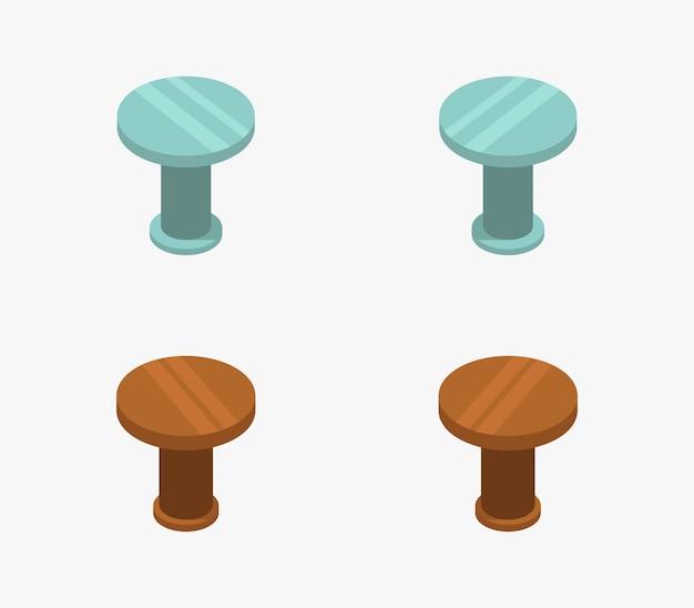 Set isometrische keukentafels