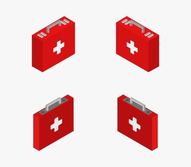 Set isometrische medische koffer