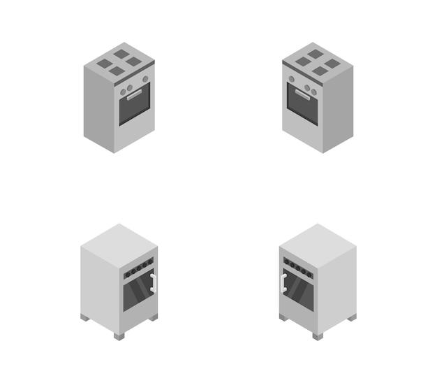 Set isometrische ovens