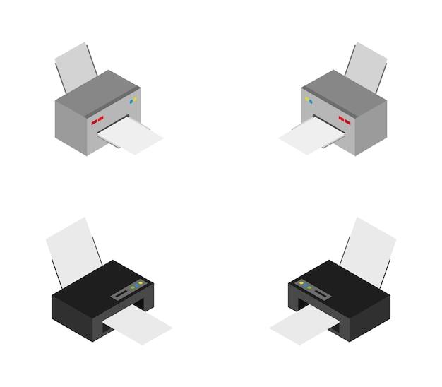 Set isometrische printers