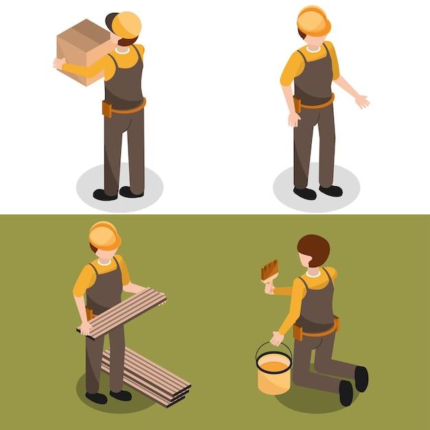 Set isometrische werknemers