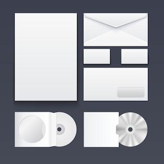 Set items voor het brandmerken van de huisstijl
