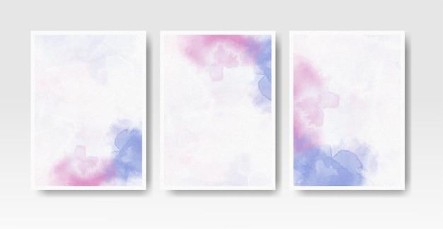 Set kaarten met aquarel vlekken